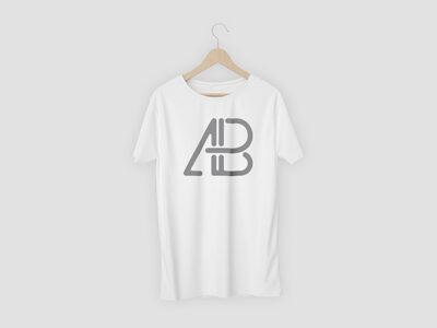 Free White Fabric T-Shirt PSD Mockup