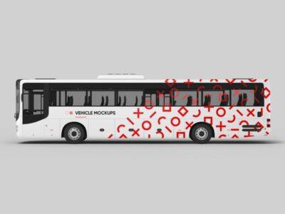 Free Bus Design PSD Mockup