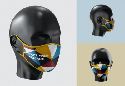 Free Facemask PSD Mockup template