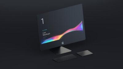 Matt Black Apple Desktop Mockup