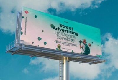 Big Screen Advertisement PSD Mockup