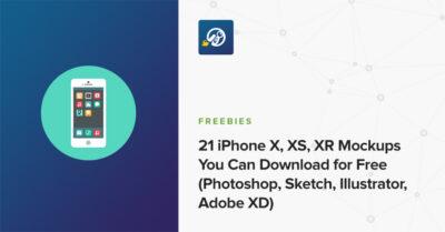 Free 21 iPhone Set PSD Mockup