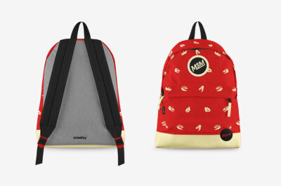 Free Backpack PSD Mockup