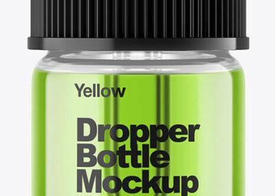 Clear Dropper Bottle PSD Mockup