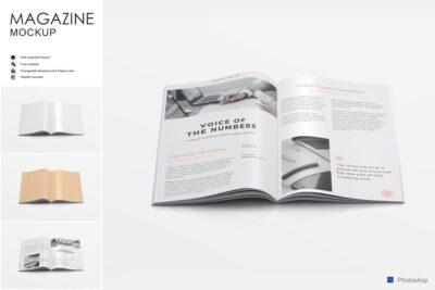Best A4 PSD Magazine Mockup