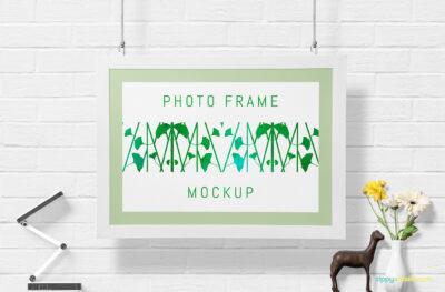 Beautiful Wall Frame PSD Mockup