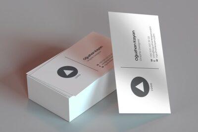 Free Design Business Card PSD Mockup