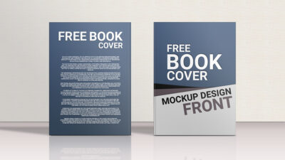 Free Front & Back Book Cover Mockup