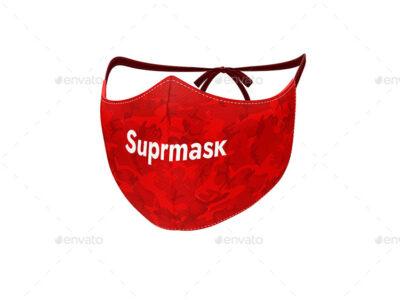 Free Red Suprmask PSD Mockup