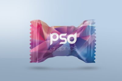 Free Candy Packaging PSD Mockup