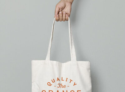 Free Canvas Carry Bag Mockup