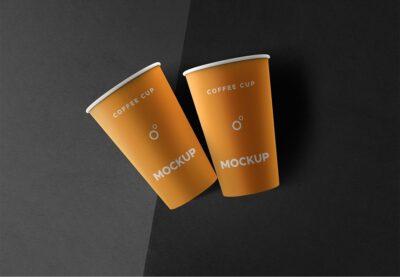 Large Coffee Cup PSD Mockup