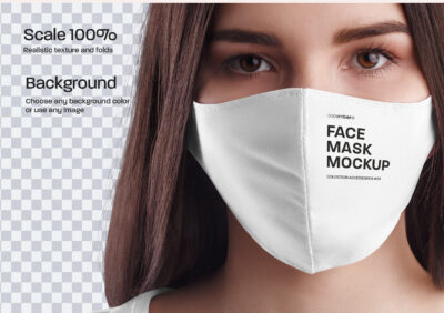 Free Facemask PSD Mockup