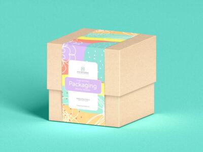 Free Elegant Small Gift Box PSD Mockup