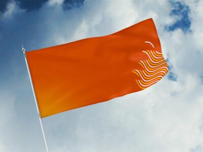 Free Flag Design PSD Mockup