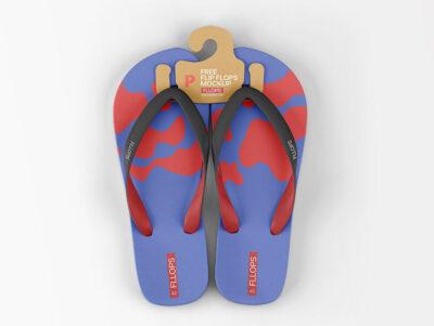 Stylish Flip Flops PSD Mockup