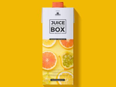 Free Juice Carton Box Packaging Mockup