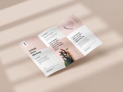 Free Folded Flyer PSD Mockup