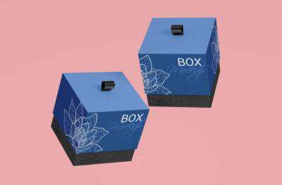 Wrist Watch Gift Box PSD Mockup