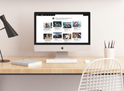 Free iMac Pro PSD Mockup for Website Screen