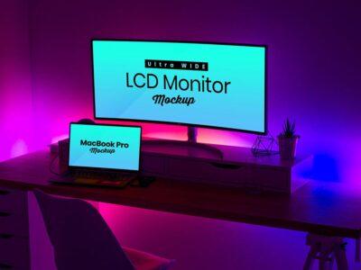 Free LCD Smart Monitor Mockup