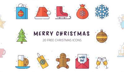 Top 20 Christmas Graphics icons Mockup