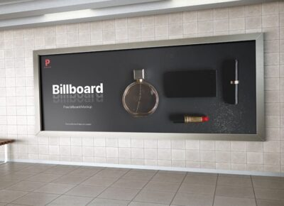 Metro Station Billboard Advertisement Mockup