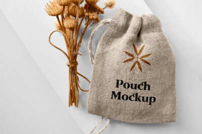 Small Pouch Bag PSD Mockup