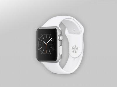 Best White Apple Watch PSD Mockup