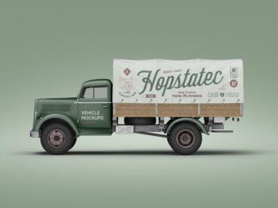 Free PSD Van Vehicle Mockup