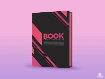 Free Book Title Cover PSD Mockup