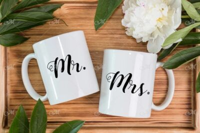 Free design Mugs PSD Mockup