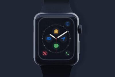Black Apple Watch PSD Mockup