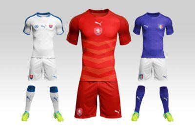 Free Football Jersey PSD Mockup