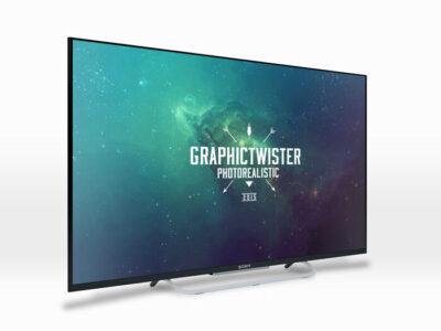 Digital Smart TV Mockup Template