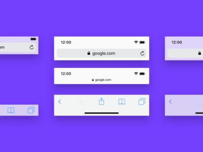 Mobile Browser bar PSD Mockup