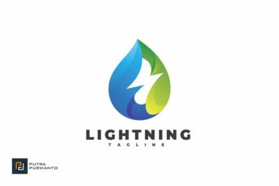 Free Lightning PSD Mockup Template