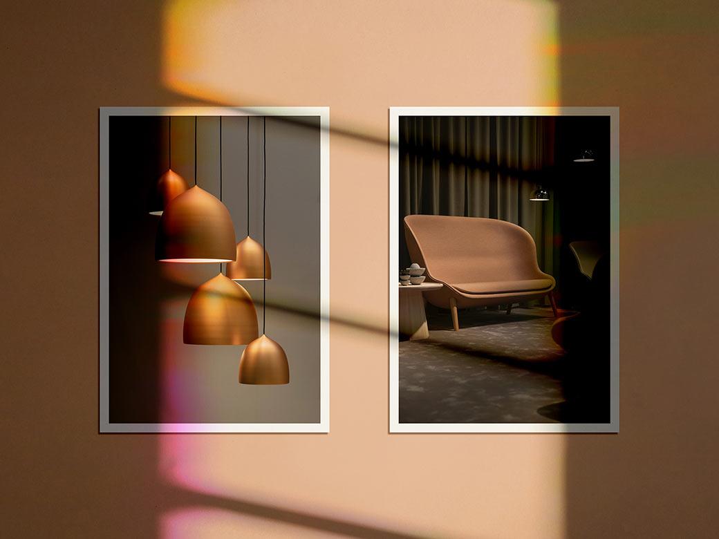 Free Shadow Photo Frame PSD Mockup