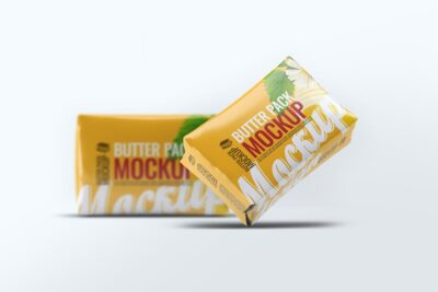 Free Butter Pack PSD Mockup