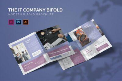 IT Company Bifold Mockup