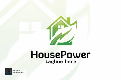 Free Power House Logo Mockup