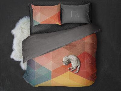Free Bed Linen PSD Mockup