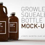 Free Growler Bottle PSD Mockup