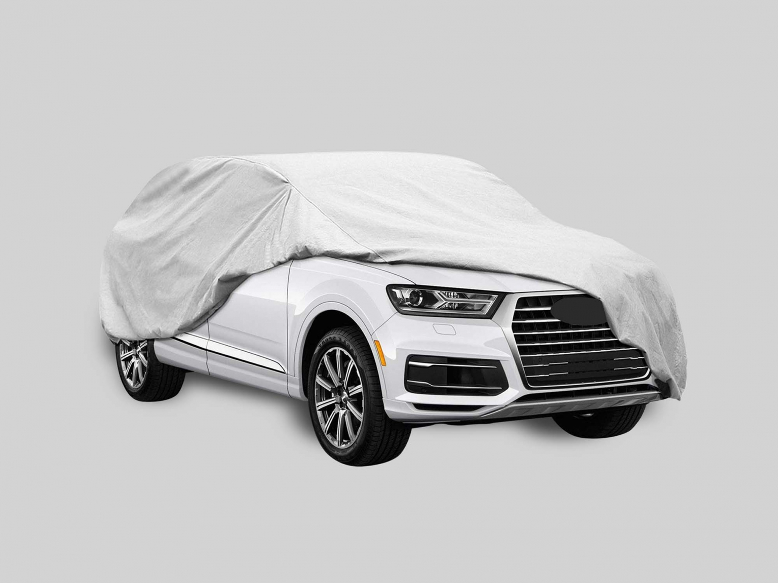 Realistic Car Cover PSD Mockup