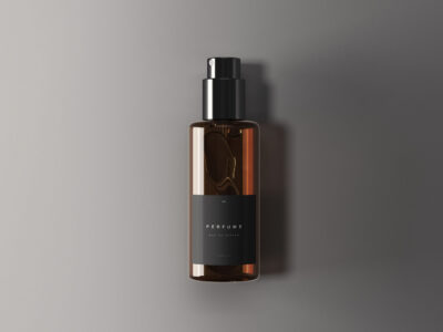 Free Perfume Bottle PSD Mockup