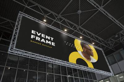 Free Event Billboard PSD Mockup