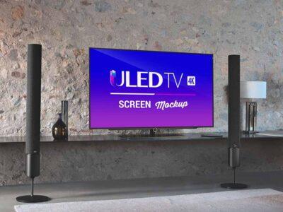 Free ULED Smart TV PSD Mockup