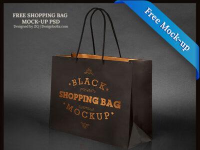 Free Black Shopping Bag Mockups