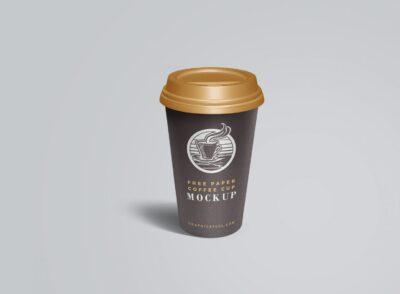 Free Beverage Coffee Cup Mockup