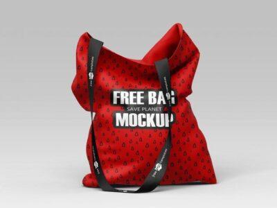 Red Sublimation Bag Mockups